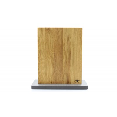 Magnet Messerblock Blockwerk 8er Wild-Eiche Stahlsockel blank gebürstet