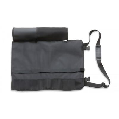 Dick Messertasche Textil klein für bis zu 7 Teile mit Umhängegurt