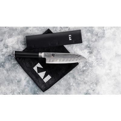 Kai Shun Classic Set Santoku 180mm mit Klingenschutz & Pflegetuch