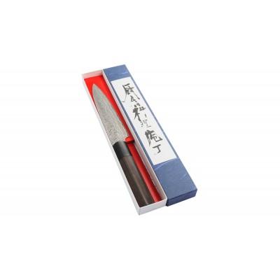Shiro Kamo Powder Steel Damast Allzweckmesser 135mm Verpackung