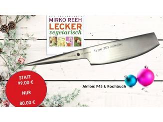 CHROMA type 301 Chinesisches Kräutermesser & Kochbuch von Mirko Reeh