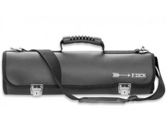 Dick Messertasche Kunstleder groß für bis zu 11 Teile mit Umhängegurt