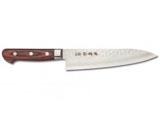 Kanetsune Tsuchime Damast Classic Kochmesser 180mm