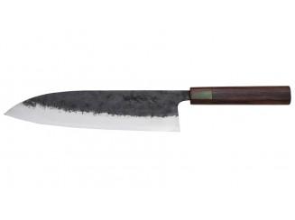 Katsuto Tanaka Shirogami 1 Gyuto Messer 240mm Rainbow