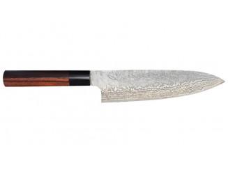 Shiro Kamo Powder Steel Damast Kochmesser 180mm