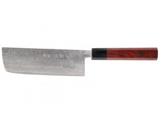 Shiro Kamo Powder Steel Damast Nakiri 165mm Oktagongriff