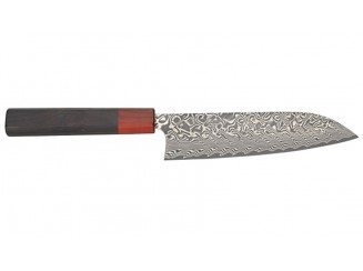 Yoshimi Kato SG2 Damast Santoku 165mm Ebenholzgriff