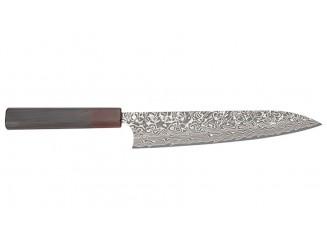 Yoshimi Kato SG2 Damast Kochmesser 210mm Ebenholzgriff
